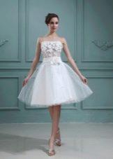 Платье-пачка свадебное