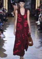Платье мешок бордовое