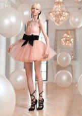 Платье-пачка розовое