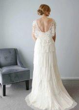 Платье ампир с открытой спиной