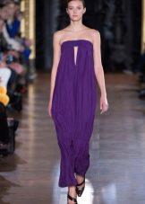Платье мешок  фиолетовое