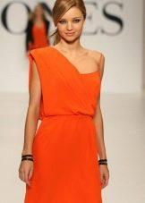 Греческое платье оранжевое