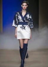 Платье кимоно короткое