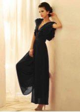 Платье кюлот черное