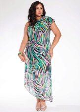 Платье асимметричное для полных