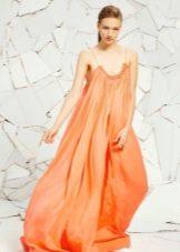 Платье мешок оранжевое