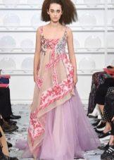Платье ампир от Schiaparelli  на бретелях