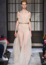 Платье греческое от Schiaparelli полупрозрачное