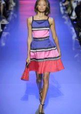 Платье а-силуэта в полоску