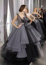 Вечернее пышное платье из тюли