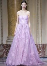 А-образное гипюровое платье