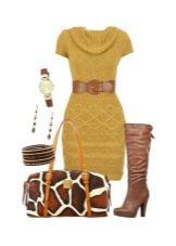 Вязаное шерстяное платье для женщин цветотипа Осень