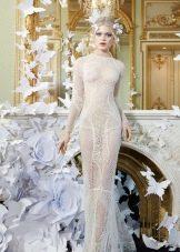 Закрытое кружевное платье прозрачное