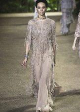 Elie Saab весна-лето 2016 платье  с бахромой из бисера