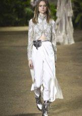 Elie Saab весна-лето 2016  брюки со съемной юбкой