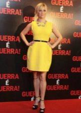 Платье короткое из неопрена желтое