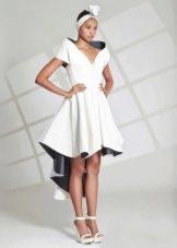 Платье короткое спереди  длинное сзади из неопрена