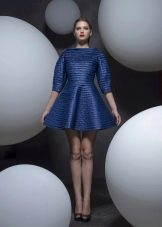 Платье из неопрена синее