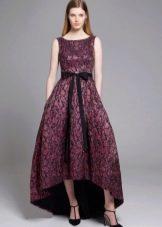 Платье короткое спереди  длинное сзади из неопрена вечернее