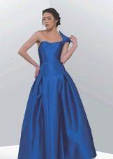Вечернее длинное платье из неопрена