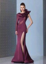 Вечернее  платье русалка из неопрена