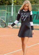 Спортивное платье из неопрена с номером