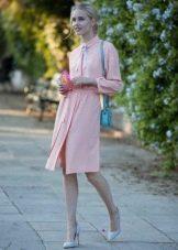 Платье из хлопковой ткани с полиэстером