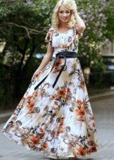 Длинное платье из вискозы с рисунком
