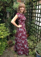 Платье из вискозы с добавлением шерсти