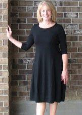 Платье из вискозы и шерсти