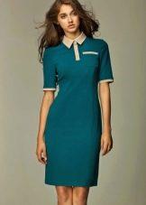 Платье-поло с пуговицами