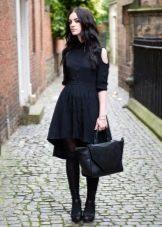 Платье-рубашка с ассиметричным низом у юбки