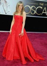 Платье красное Дженифер Лопес с корсетом