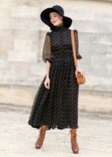 Шляпа, ботинки и небольшая сумочка к платью Татьянка