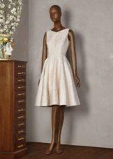 Платье Татьянка из молочного жаккарда
