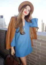 Платье-туника с шляпой и курткой