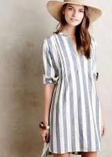 Туника-платье прямого покроя