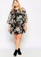 Платье-туника для полной девушки