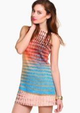 Платье туника разноцветное