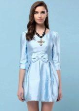 Голубое платье тюльпан