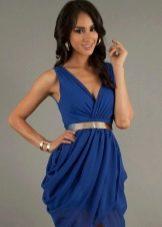 Синее платье тюльпан