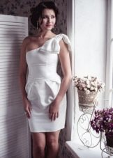 Белое платье тюльпан