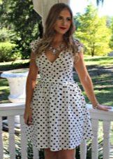 Хлопчатобумажное платье в горошек