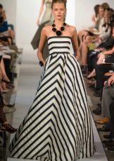Платье в морском стиле вечернее полосатое