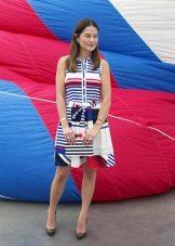 Платье до колен в морском стиле