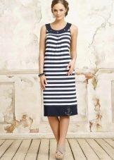Платье футляр миди в морском стиле