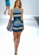 Платье в полоску с морским принтом
