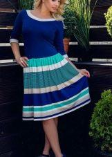 Трикотажное морское платье на каждый день