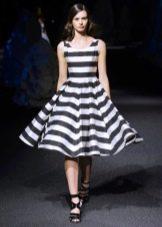 платье в полоску а-силуэта