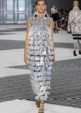 Платье в стиле чикаго  с бахрамой